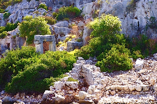 Kekova Island, And With A Still Standing Doorway.