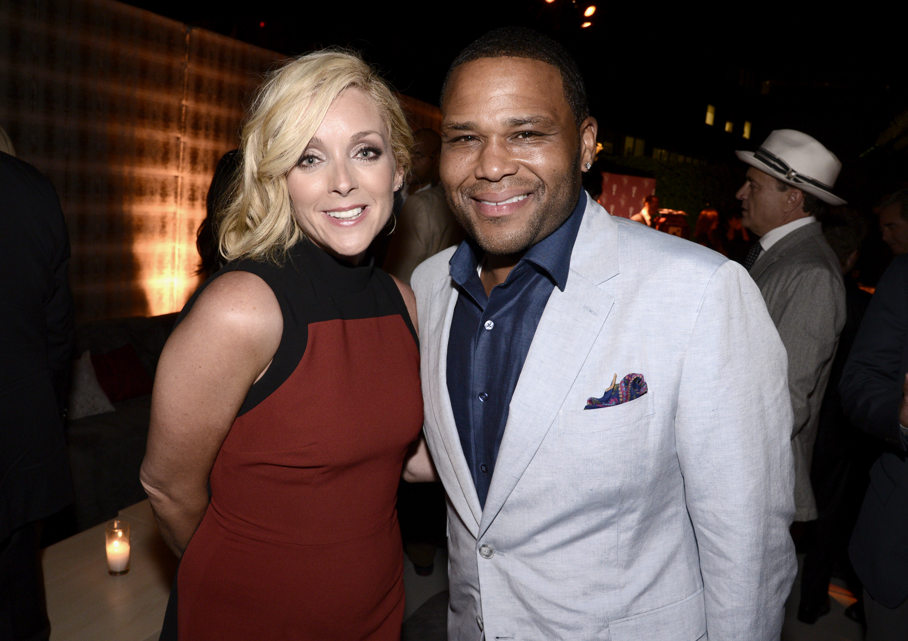EXCLUSIVE - Jane Krakowski, left, and Anthony Anderson attend the Television Academy's 67th Emmy Awards Performers Nominee Reception at the Pacific Design Center on Saturday, Sept.19, 2015, in West Hollywood, Calif. (Photo by Dan Steinberg/Invision for the Television Academy/AP Images)