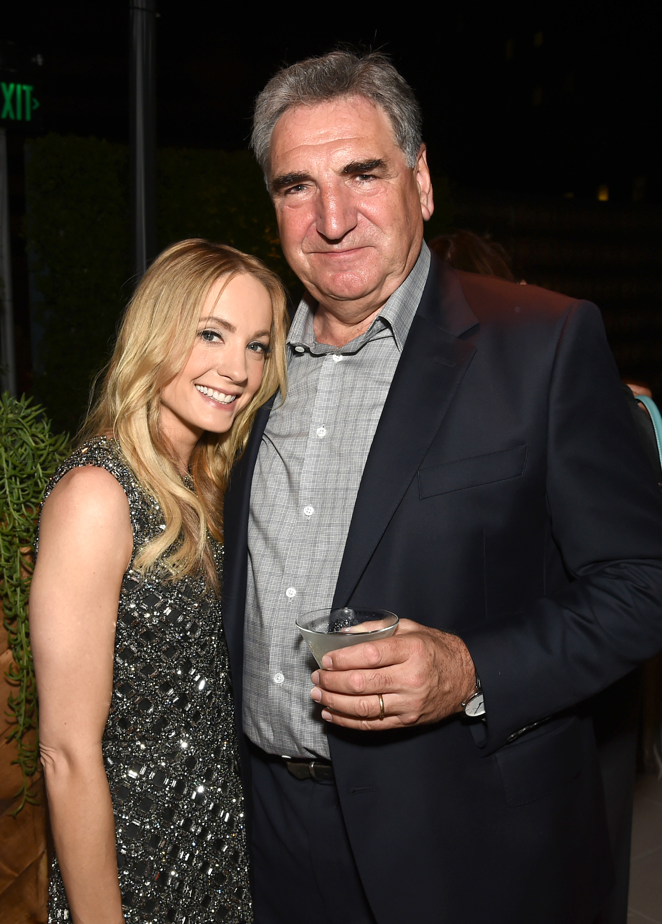 EXCLUSIVE - Joanne Froggatt left, and Jim Carter attend the Television Academy's 67th Emmy Awards Performers Nominee Reception at the Pacific Design Center on Saturday, Sept.19, 2015, in West Hollywood, Calif. (Photo by Charles Sykes/Invision for the Television Academy/AP Images)