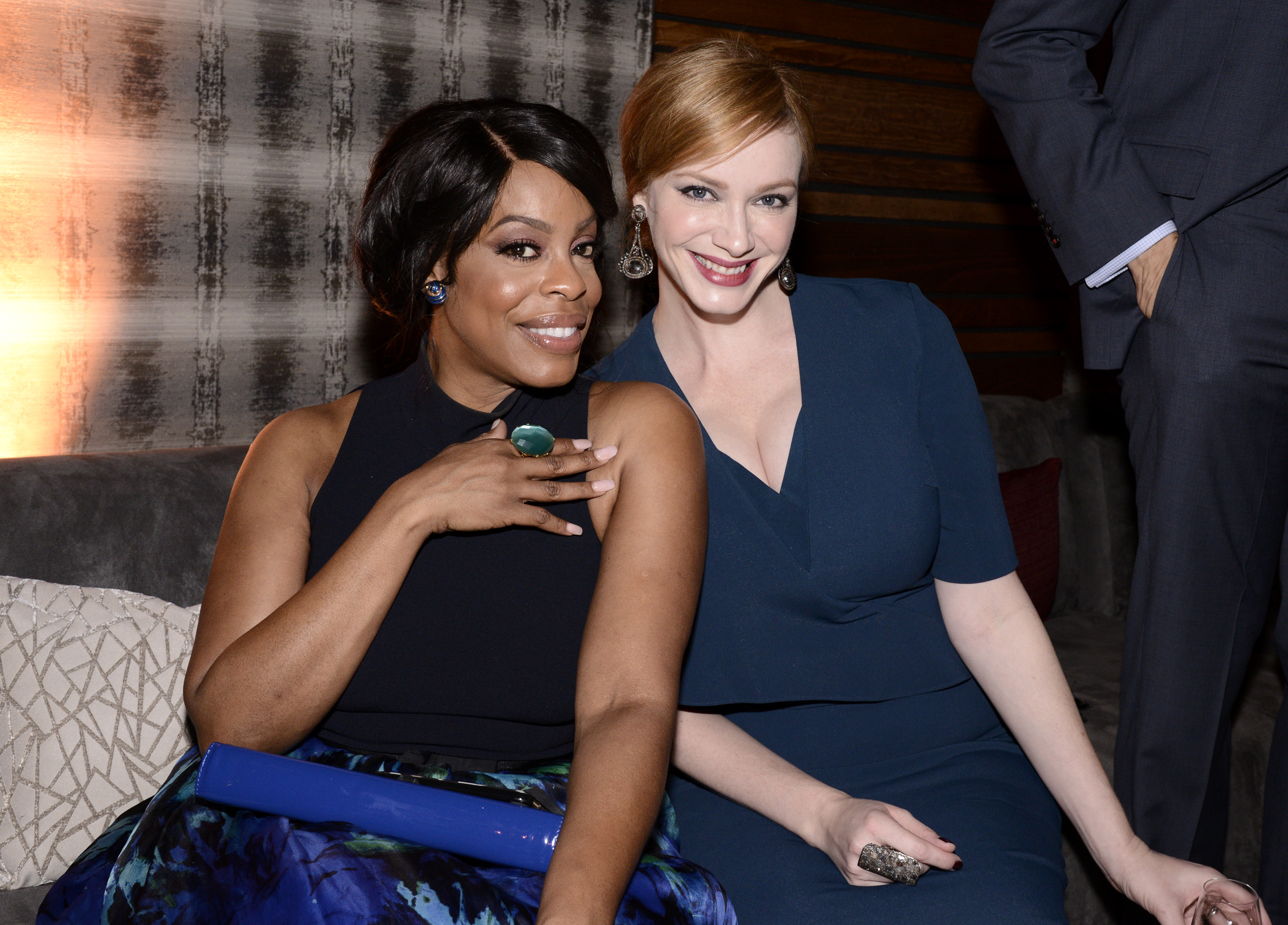 IMAGE DISTRIBUTED FOR TELEVISION ACADEMY - EXCLUSIVE - Niecy Nash, left, and Christina Hendricks attend the Television Academy's 67th Emmy Awards Performers Nominee Reception at the Pacific Design Center on Saturday, Sept.19, 2015, in West Hollywood, Calif. (Photo by Dan Steinberg/Invision for the Television Academy/AP Images)