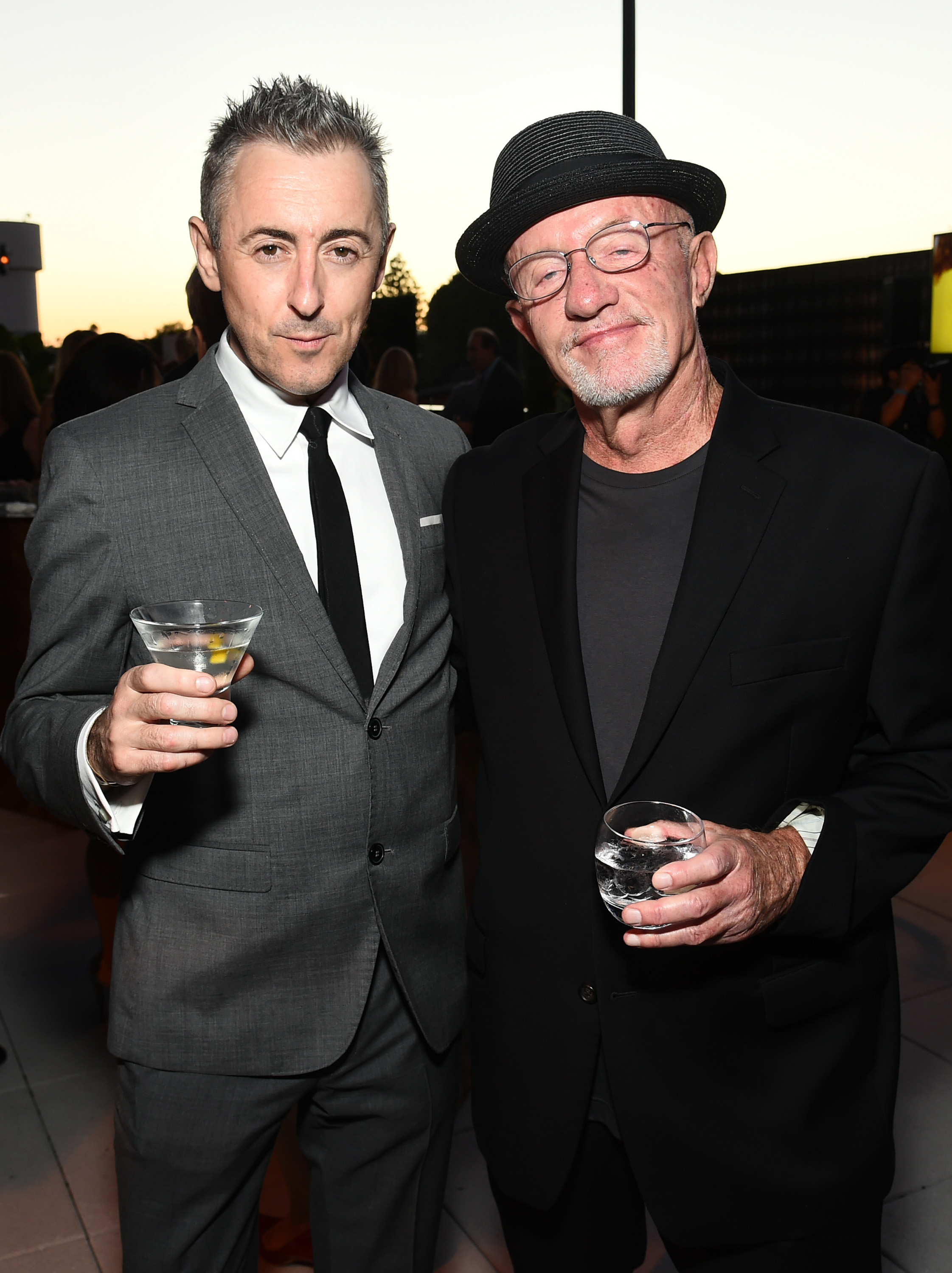 EXCLUSIVE - Alan Cumming, left, and Jonathan Banks attend the Television Academy's 67th Emmy Awards Performers Nominee Reception at the Pacific Design Center on Saturday, Sept.19, 2015, in West Hollywood, Calif. (Photo by Charles Sykes/Invision for the Television Academy/AP Images)