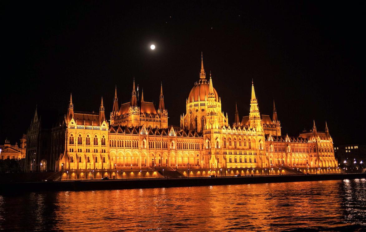 Budapest at night. Image courtesy Susan Michals.