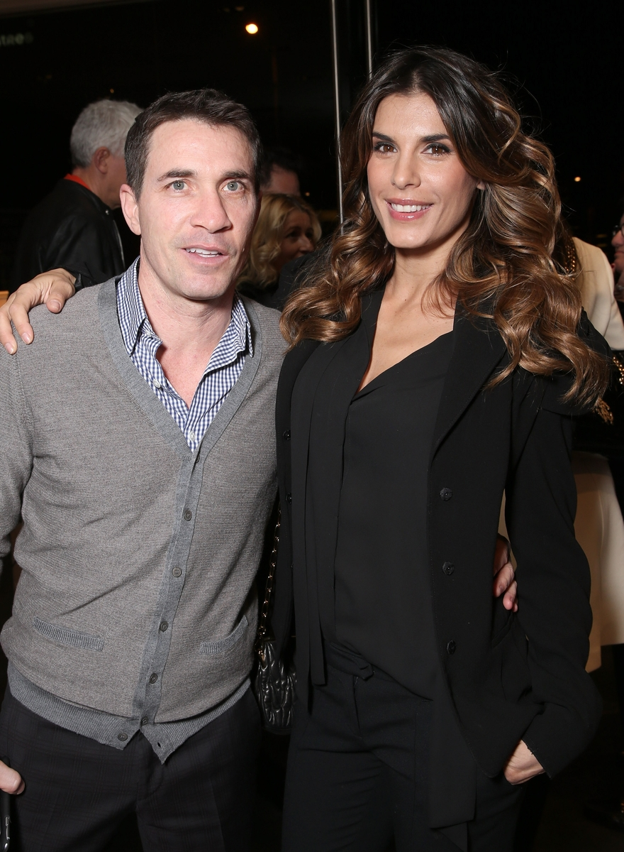 LOS ANGELES, CA - MARCH 30: Brian Perri and Elisabetta Canalis attend Bulgari Hotels And Maxalto Cocktail Party on March 30, 2016 in Los Angeles, California. (Photo by Todd Williamson/Getty Images for DIVA Group)