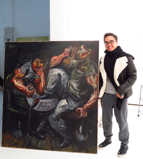 Adrian Cheng With Zhang Enli's Pub 5 at Recent K 11 Exhibition