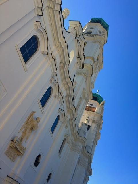 A view from below - in awe of St. Stevens in Passau. Image courtesy Susan Michals.