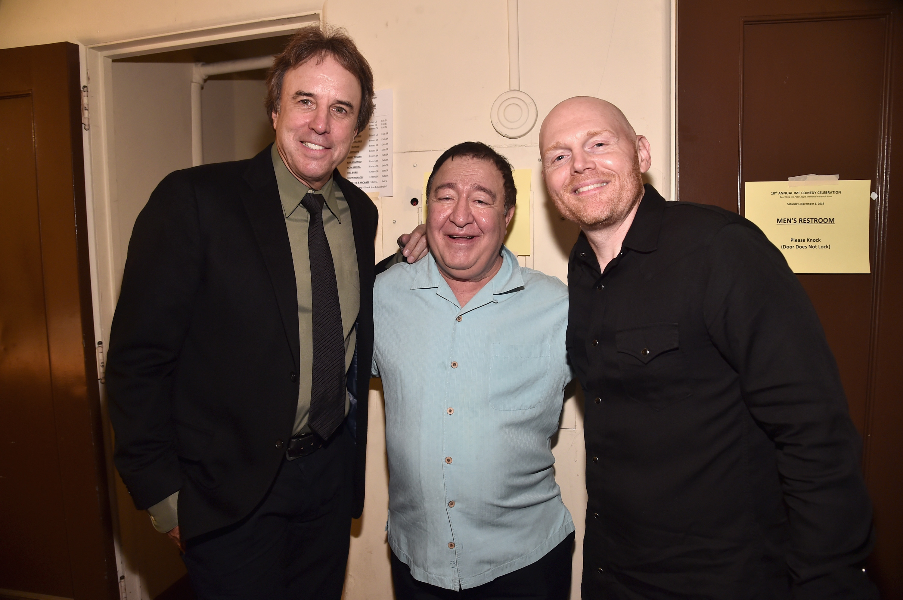 Comedians Kevin Nealon, Dom Irerra and Bill Burr attend the International Myeloma Foundation 10th Annual Comedy Celebration.Photo by Alberto E. Rodriguez/Getty Images for International Myeloma Foundation.