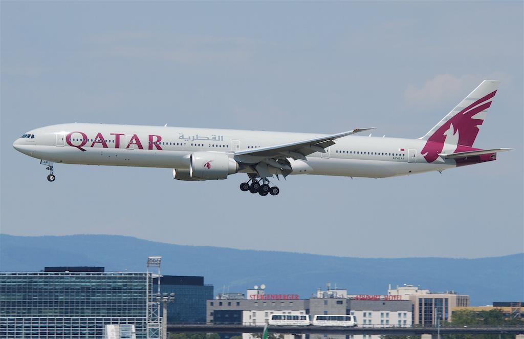 Qatar Airways with Oryx