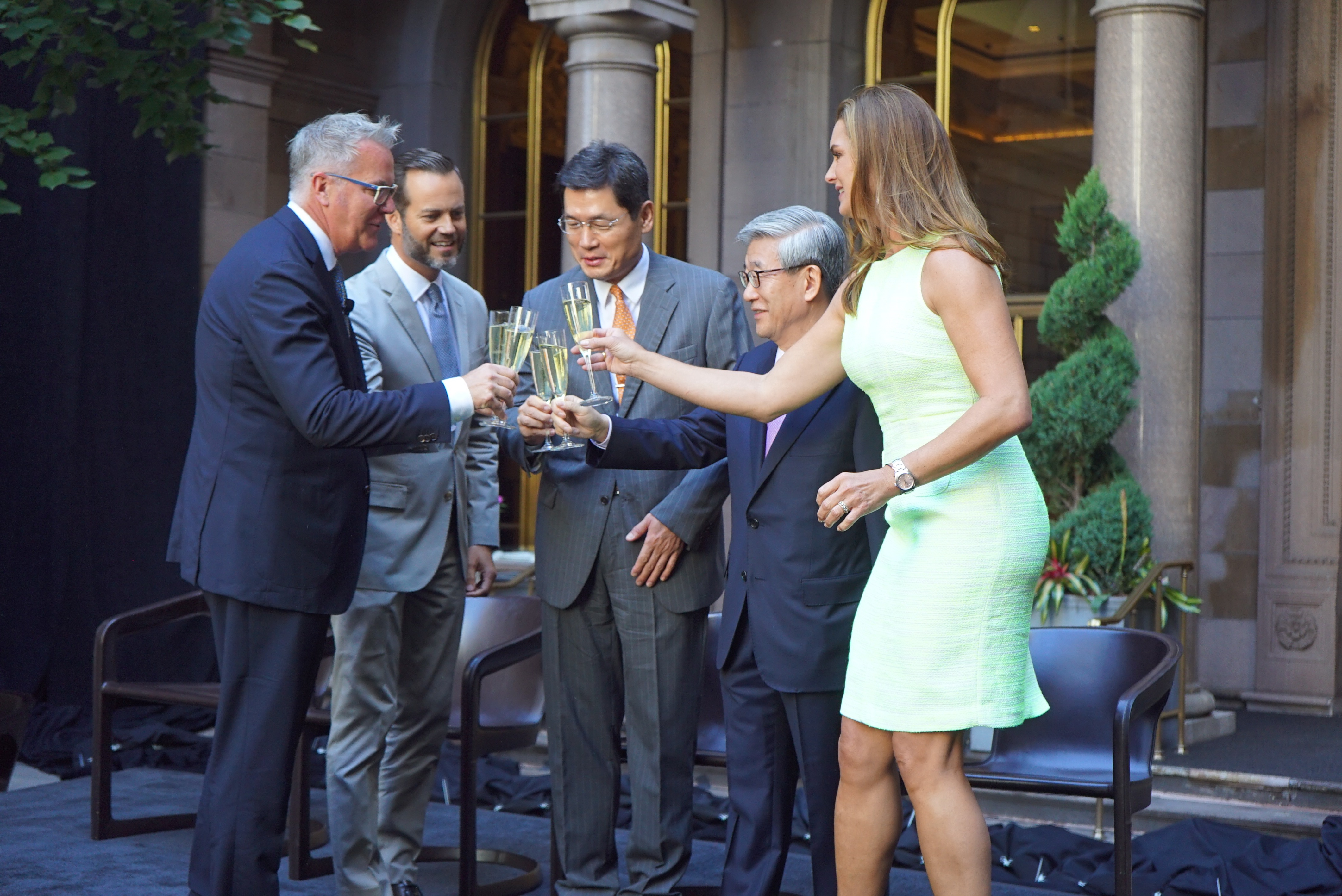Unveiling Ceremony for Lotte Palace New York Hotel