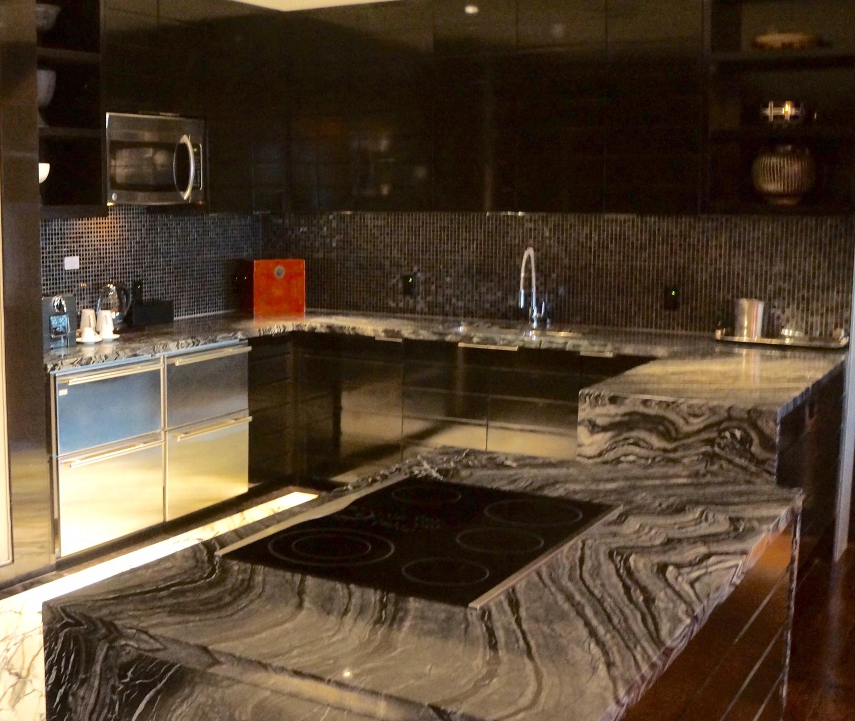 Grey Marble Kitchen, Emperor Suite