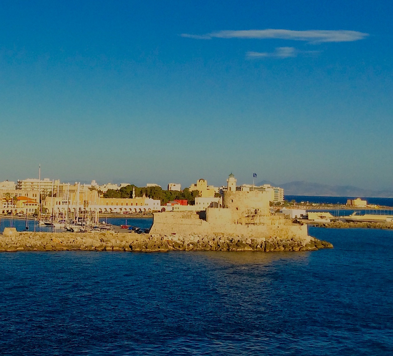 The Walled City Of Rhodes, From the Sea