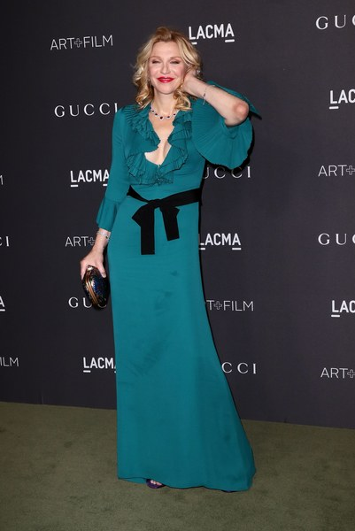 Courtney Love in Gucci. (Photo by Jason LaVeris/FilmMagic)