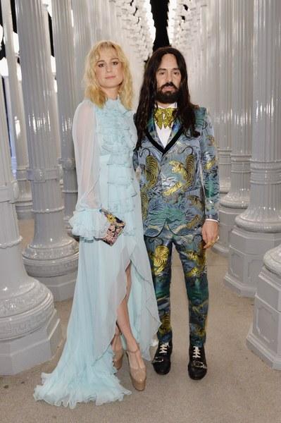 Brie Larson and Gucci Creative Director Alessandro Michele.