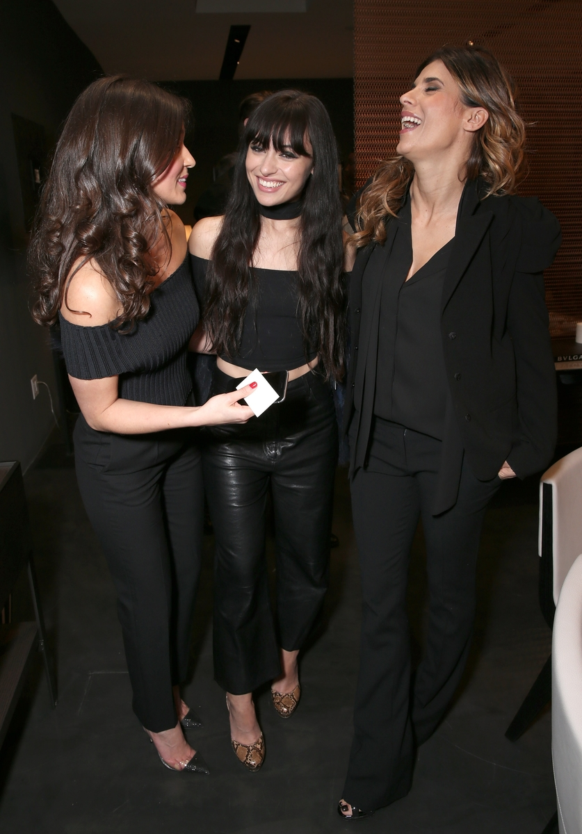 LOS ANGELES, CA - MARCH 30: Hanane Thompson, Marta Pozzan and Elisabetta Canalis attend Bulgari Hotels And Maxalto Cocktail Party on March 30, 2016 in Los Angeles, California. (Photo by Todd Williamson/Getty Images for DIVA Group)
