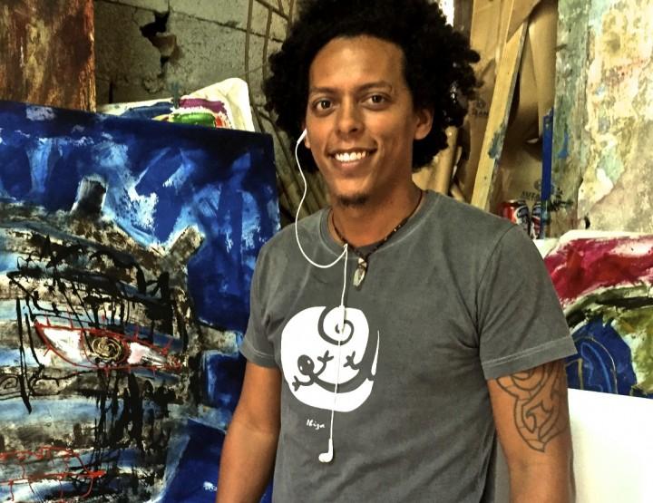 HAVANA ARTIST DENNYS SANTOS SHARES HIS BOLD, STRIKING IMAGES.