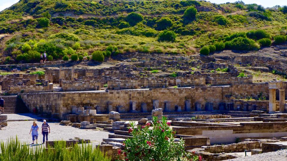 Kamiros Ruins With Pink Oleanders