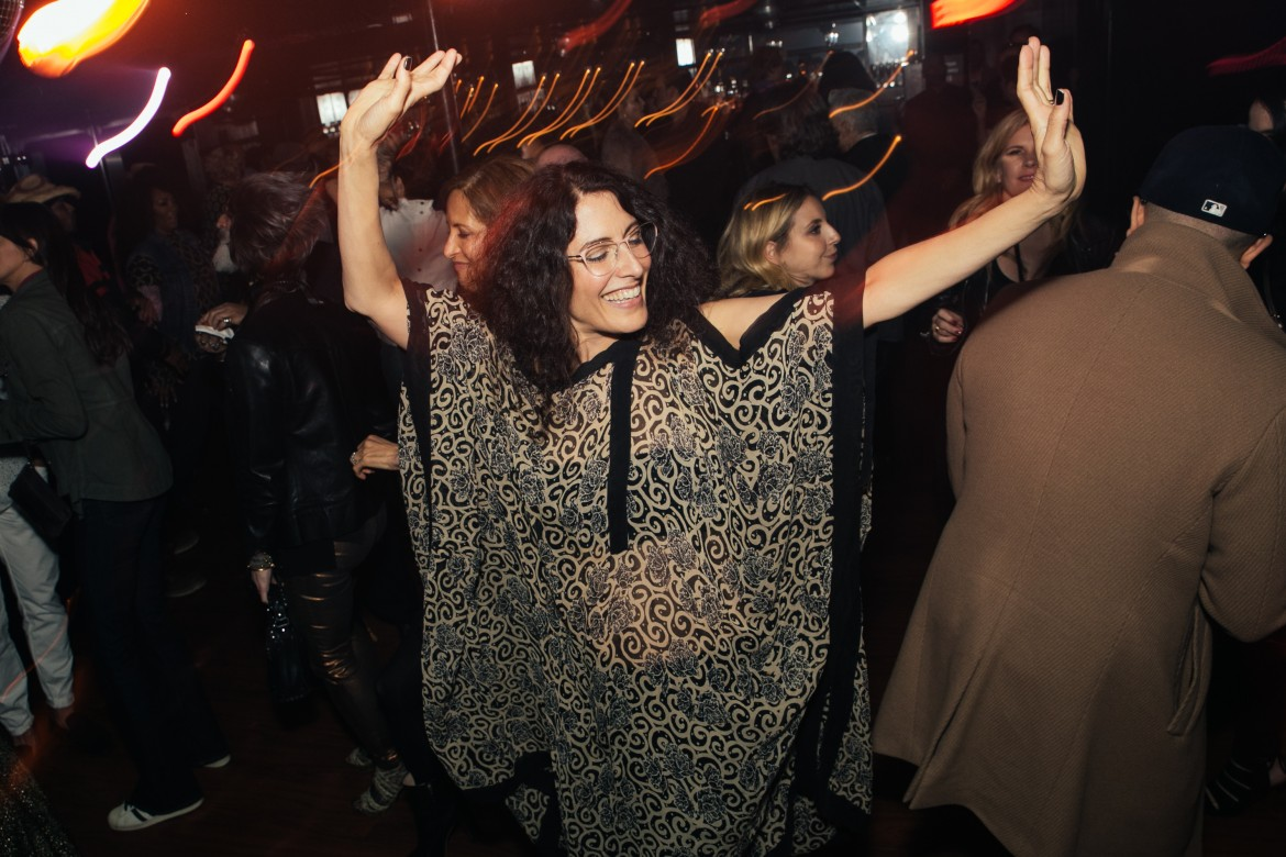 Lisa Edelstein dances at Giorgio's Chapter 2 - The New Sound presented by Bryan Rabin and Adam Bravin  at The Standard Hotel Hollywood on Saturday, April 9th, 2016  in Los Angeles, CA (Tyler Curtis/ @tyliner)