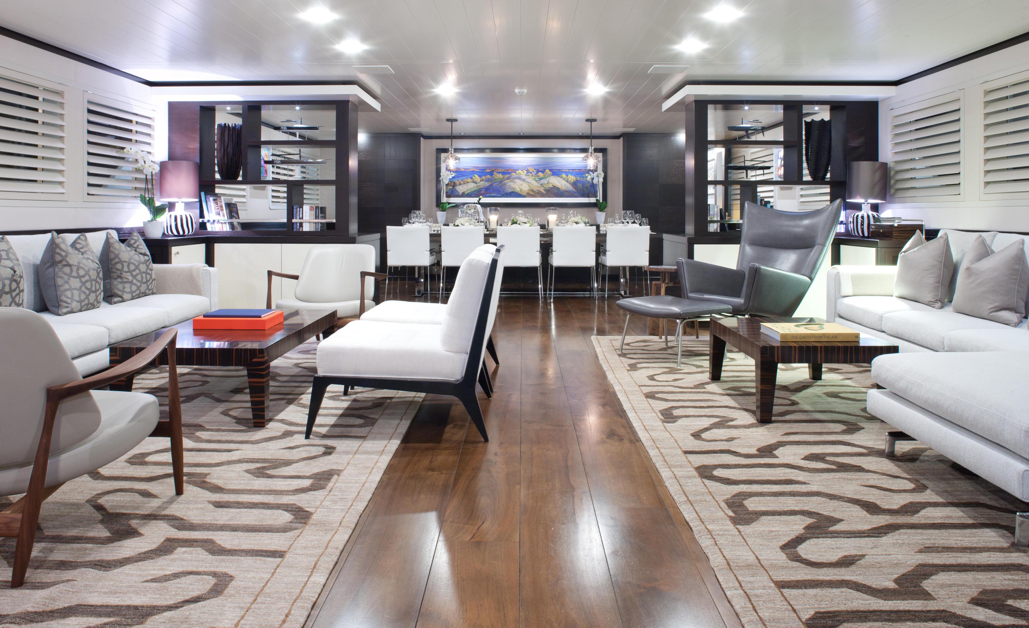 The Superyacht Mirage Saloon