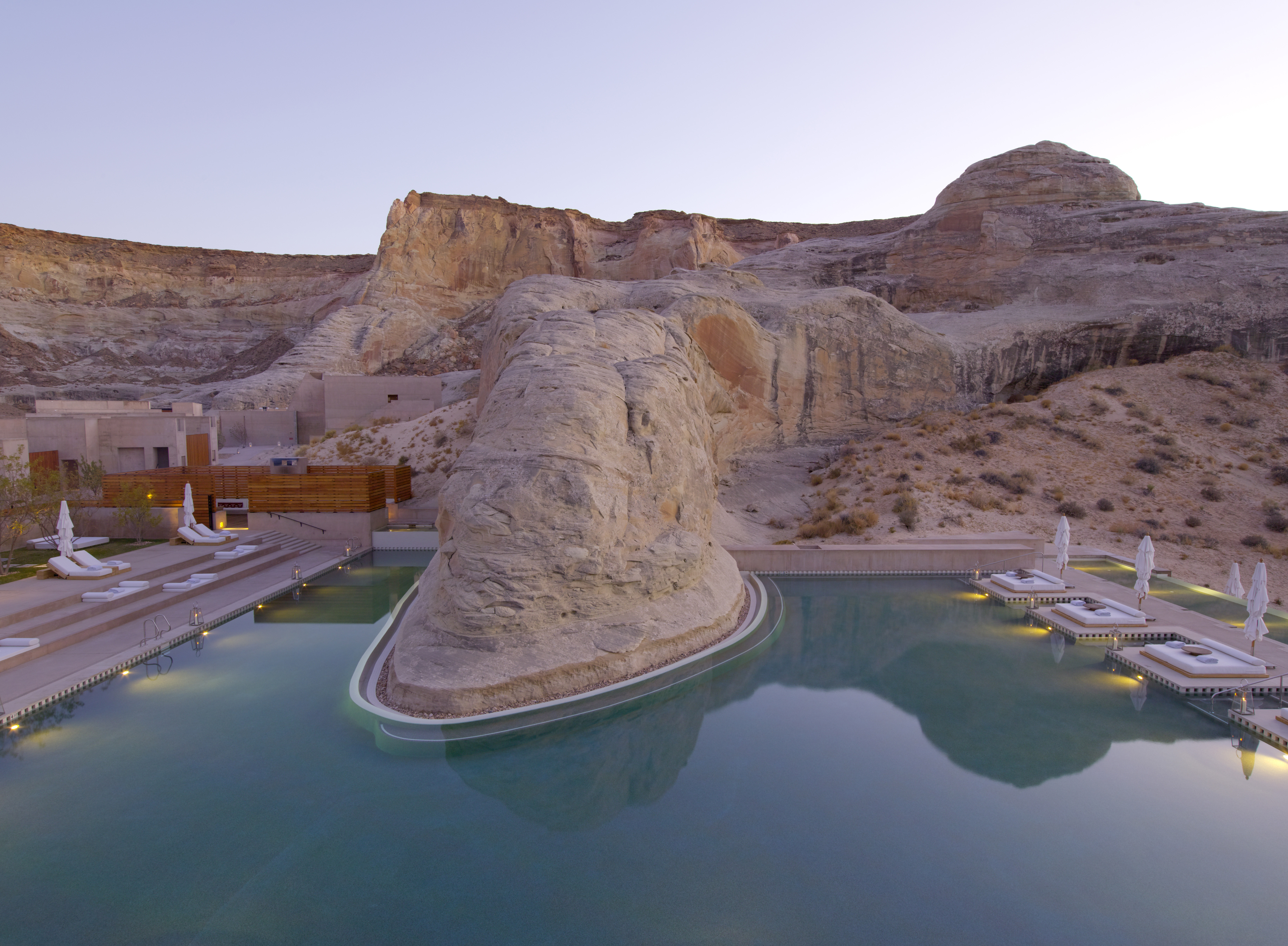 Amangiri -- Swimming Pool with Natural Rock Outcropping