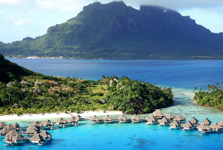 JUMP INTO TURQUOISE BLUE WATERS IN TAHITI.