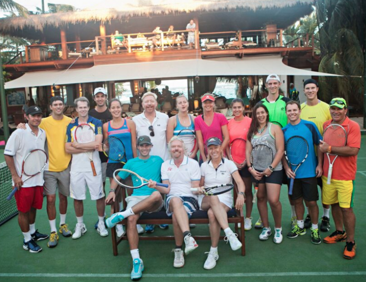 PLAY A GAME OF TENNIS WITH RICHARD BRANSON AT THE NECKER CUP.