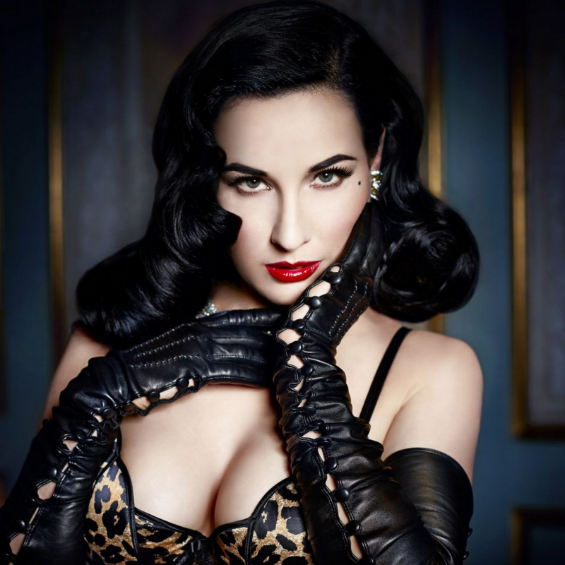 DITA VON TEESE TANTALIZES ON NEW YEAR'S EVE IN LOS ANGELES.