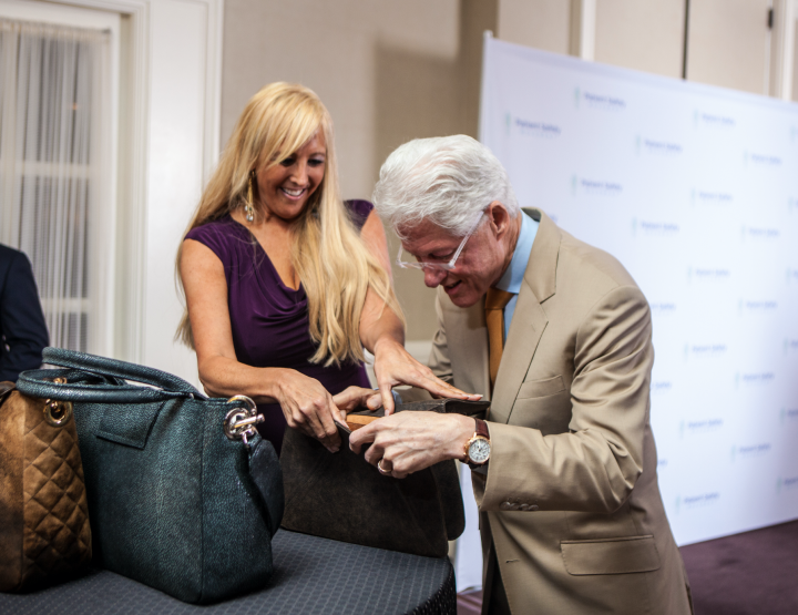 HOW AN AMERICAN LUXURY HANDBAG DESIGNER WAS ENDORSED BY A PRESIDENT.