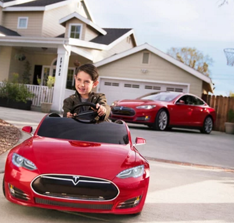 TESLA MODEL S FOR KIDS IS AVAILABLE FOR PRE-ORDER.