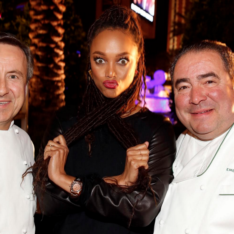 DANIEL BOULUD, TYRA BANKS AND NOBU MATSUHISA CHOW DOWN AT VEGAS UNCORK'D.