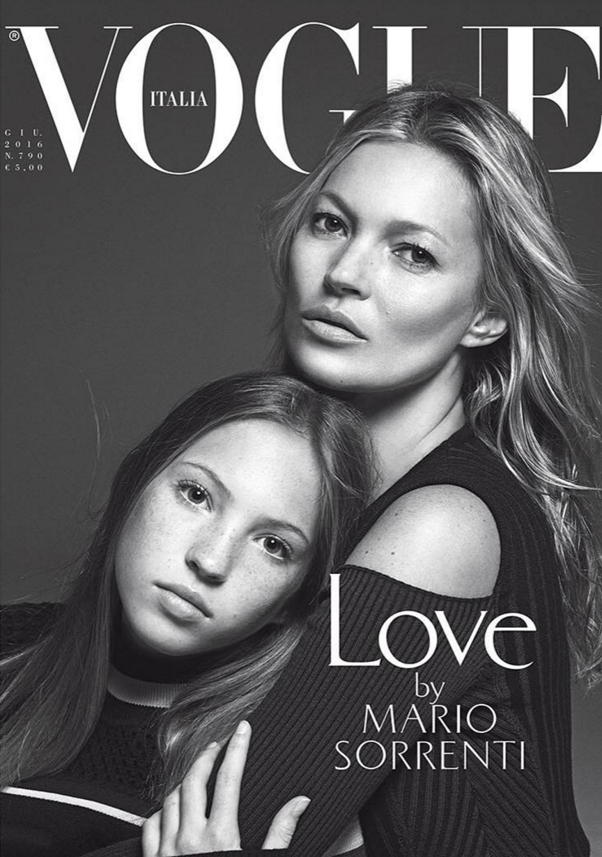 kate-moss-daughter-lands- Vogue cover