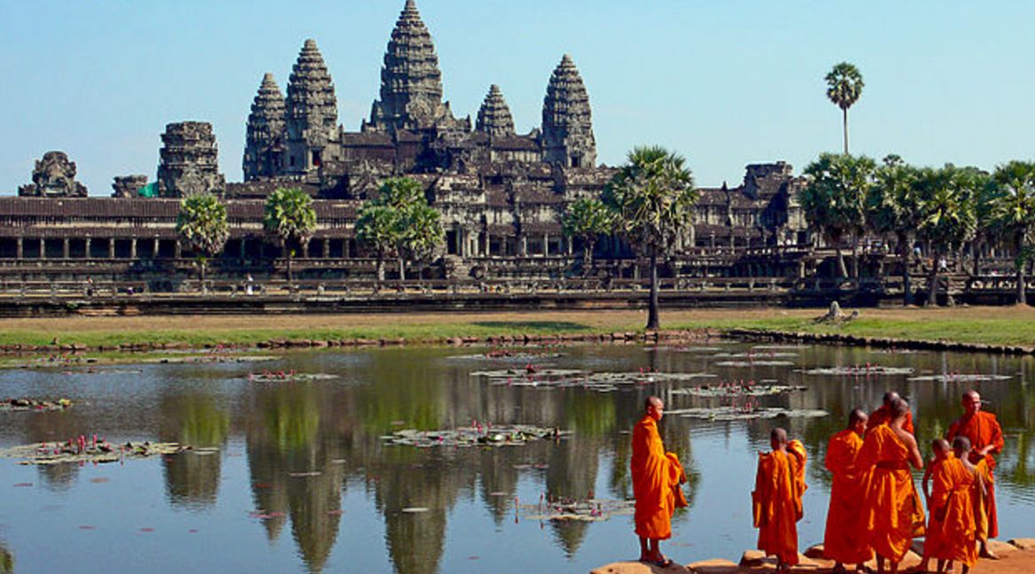 While the Northern Lights are on most travel bucket list, the temples at Angkor in Cambodia are less well-known.