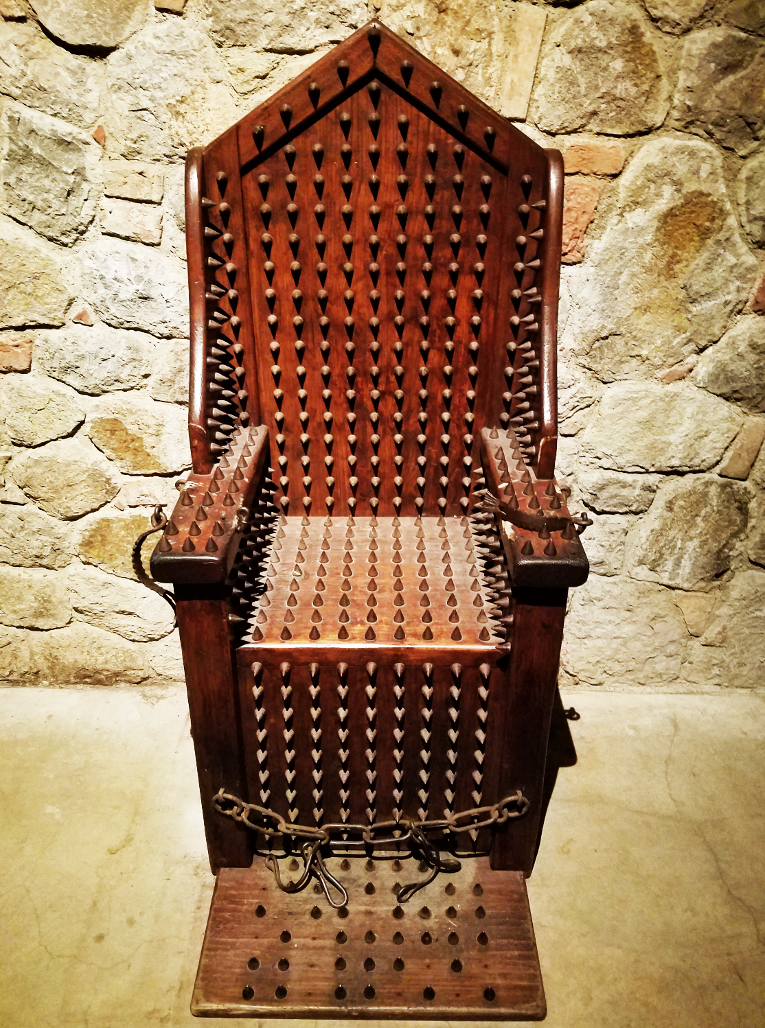 A painful chair to sit in Castillo de Amoroso's torture chamber.