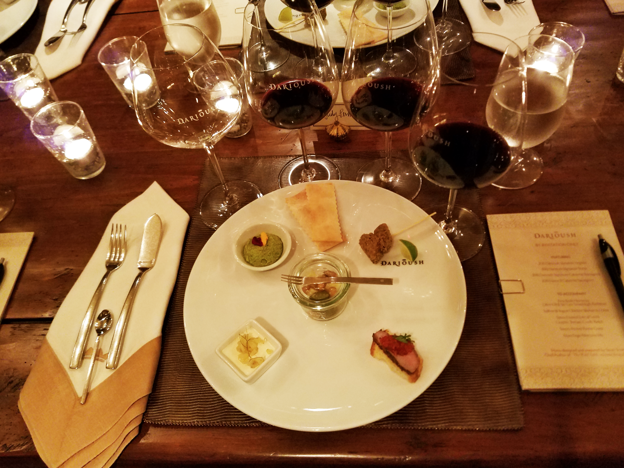 An exquisite food and wine tasting at Darioush.