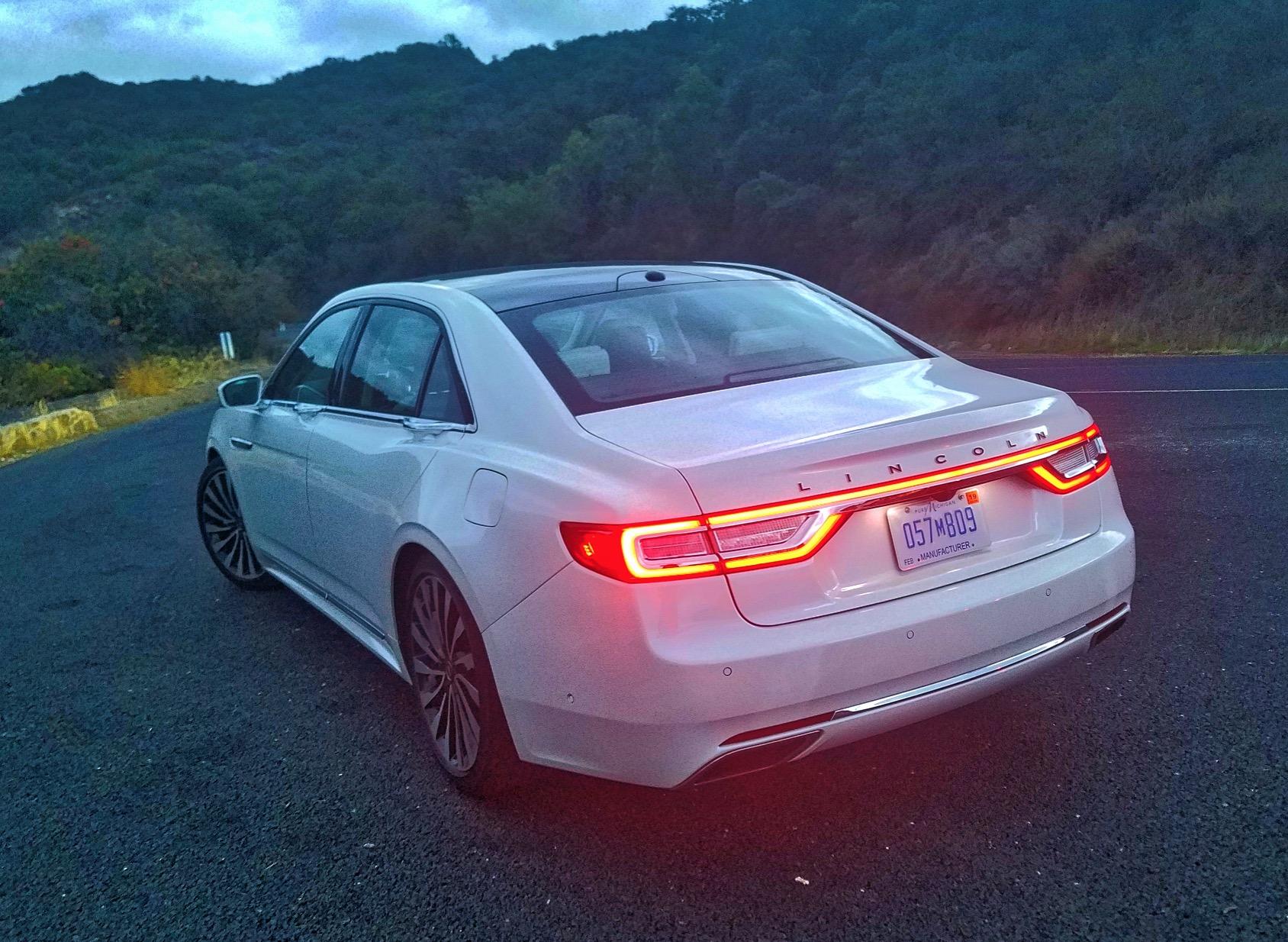 Ojai hillside Lincoln Continental