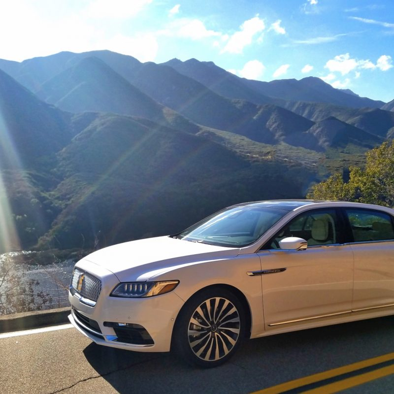 DRIVING THE LINCOLN CONTINENTAL TO OJAI.