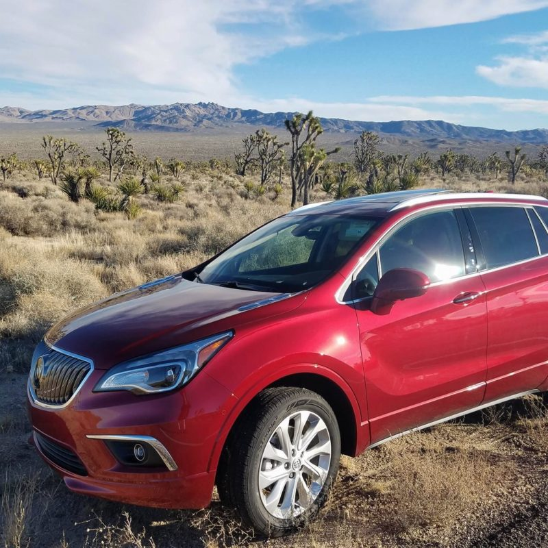 DRIVING THE RED HOT BUICK ENVISION ON A ROAD TRIP TO VEGAS.