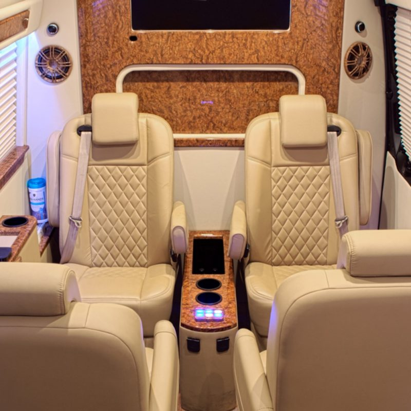 AN ADVENTURE TO HWOOD GROUP'S PEPPERMINT CLUB IN A CUSTOM MERCEDES SPRINTER.