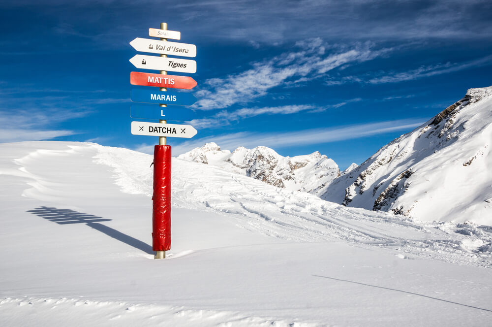 The high slopes make Val d'Isere and Tignes one of the most reliable for spring skiing with an altitude of 1,550m-3,450m.