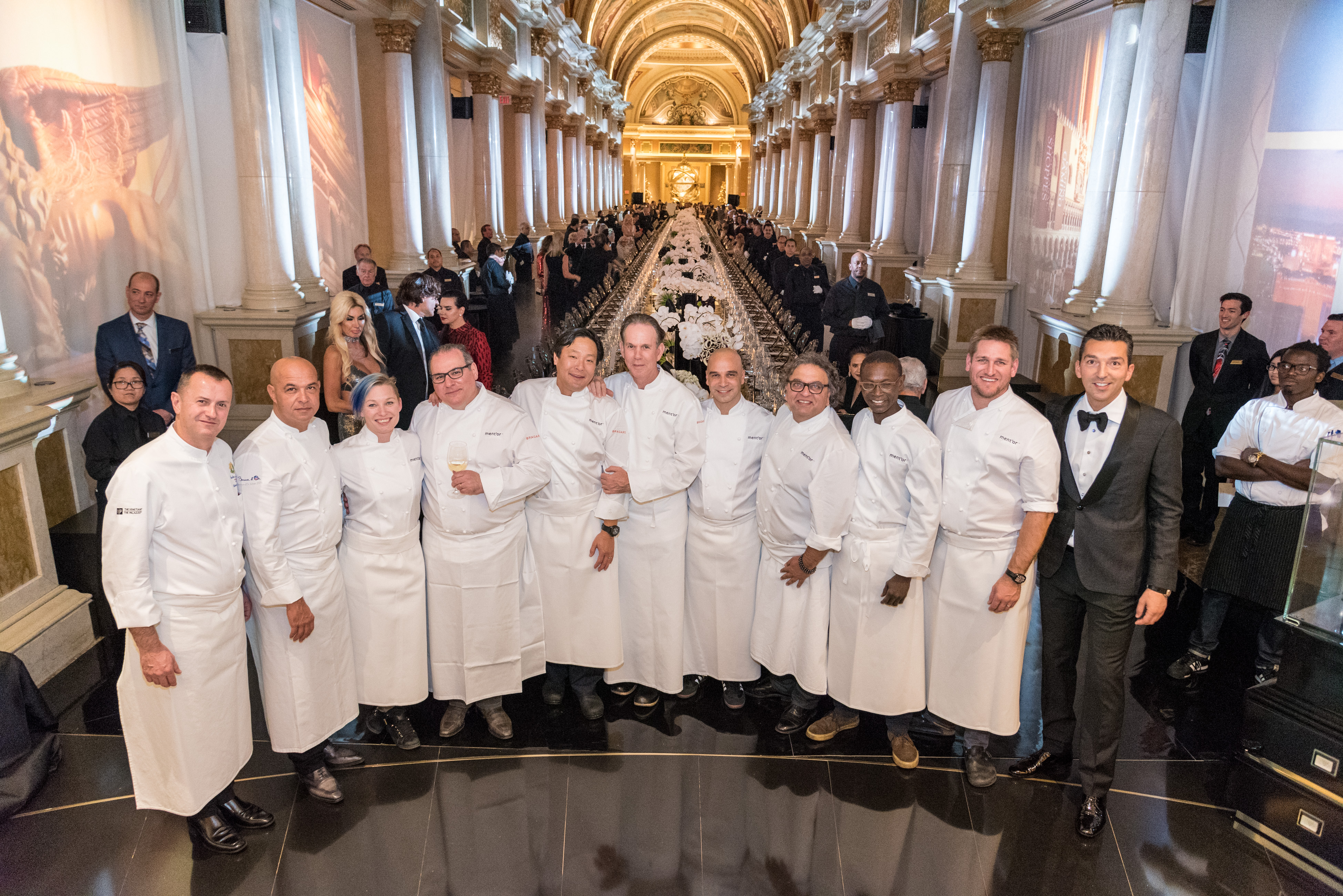 The star chefs of the evening alongside mastermind of the Ultimo experience, Sebastien Silvestre, at the Grand Banquet.