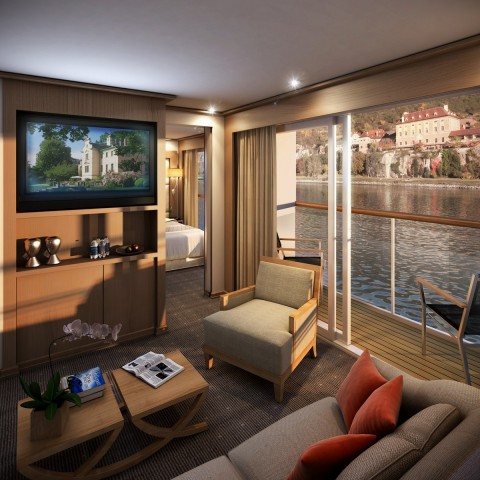 A room with a definite view. Image courtesy Viking River Cruises.