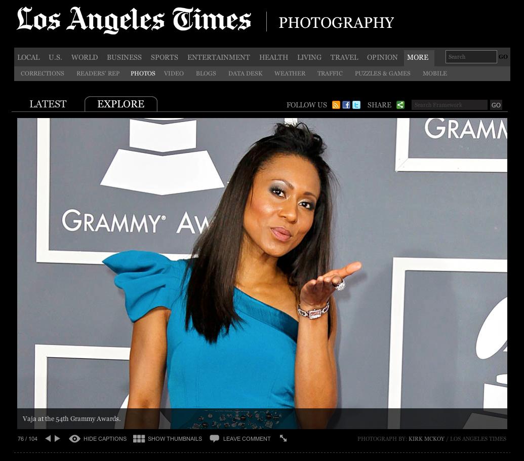 Vaja @Grammys In LA Times