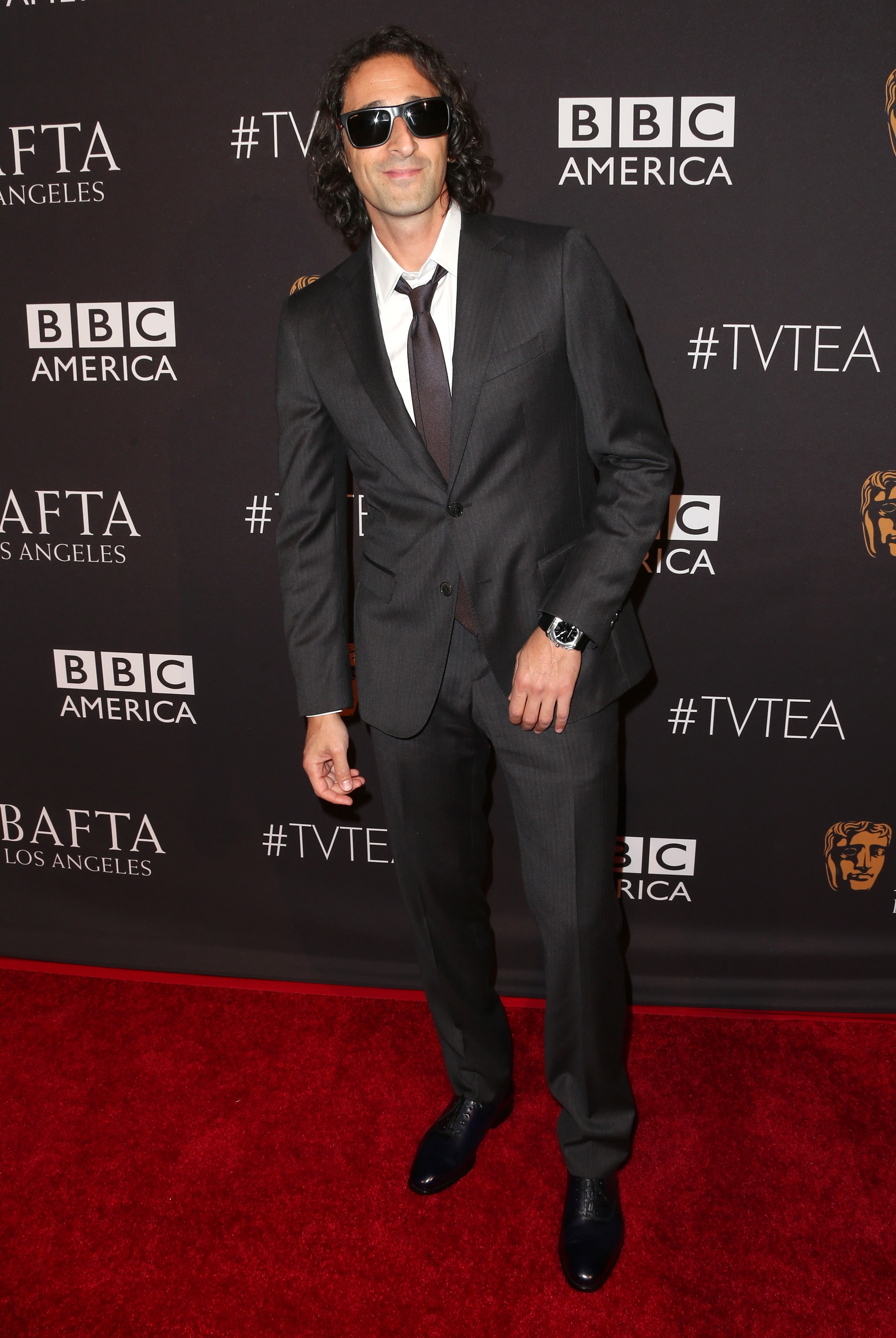 Emmy weekend BEVERLY HILLS, CA - SEPTEMBER 19: Actor Adrien Brody attends the 2015 BAFTA Los Angeles TV Tea at SLS Hotel on September 19, 2015 in Beverly Hills, California. (Photo by Frederick M. Brown/Getty Images)