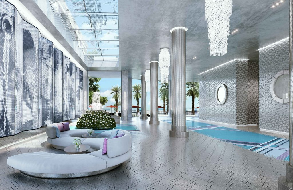 Karl Lagerfeld lobby at Acqualina