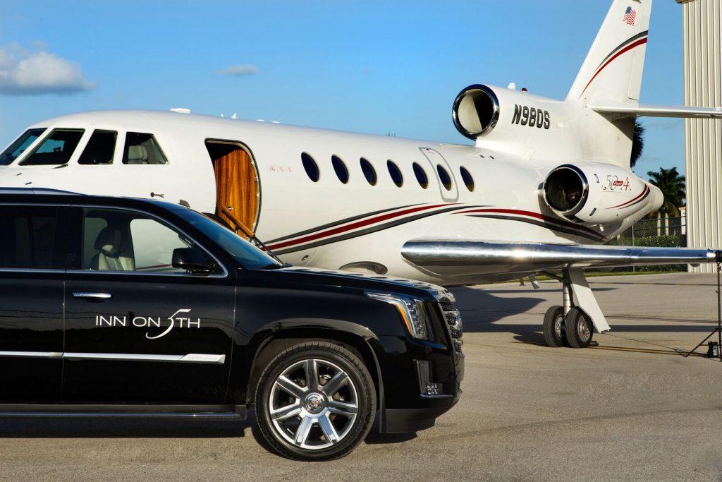 naples private plane car