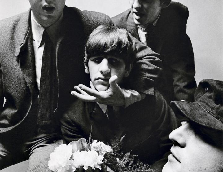 RARELY SEEN PHOTOGRAPHS OF THE BEATLES AND JUDE LAW GO ON DISPLAY AT NATIONAL PORTRAIT GALLERY'S VOGUE 100: A CENTURY OF STYLE EXHIBITION.