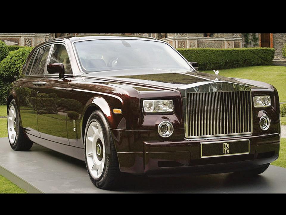 Rolls Royce Burgandy Phantom